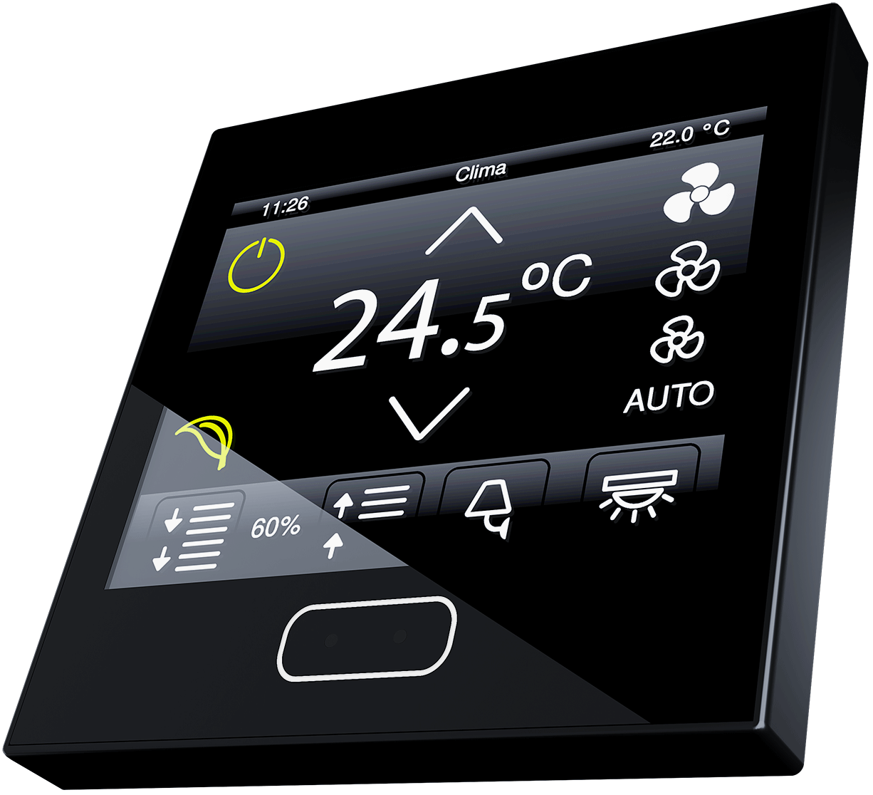 Black Z35 displaying thermostat page.